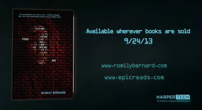 FIND ME official book trailer