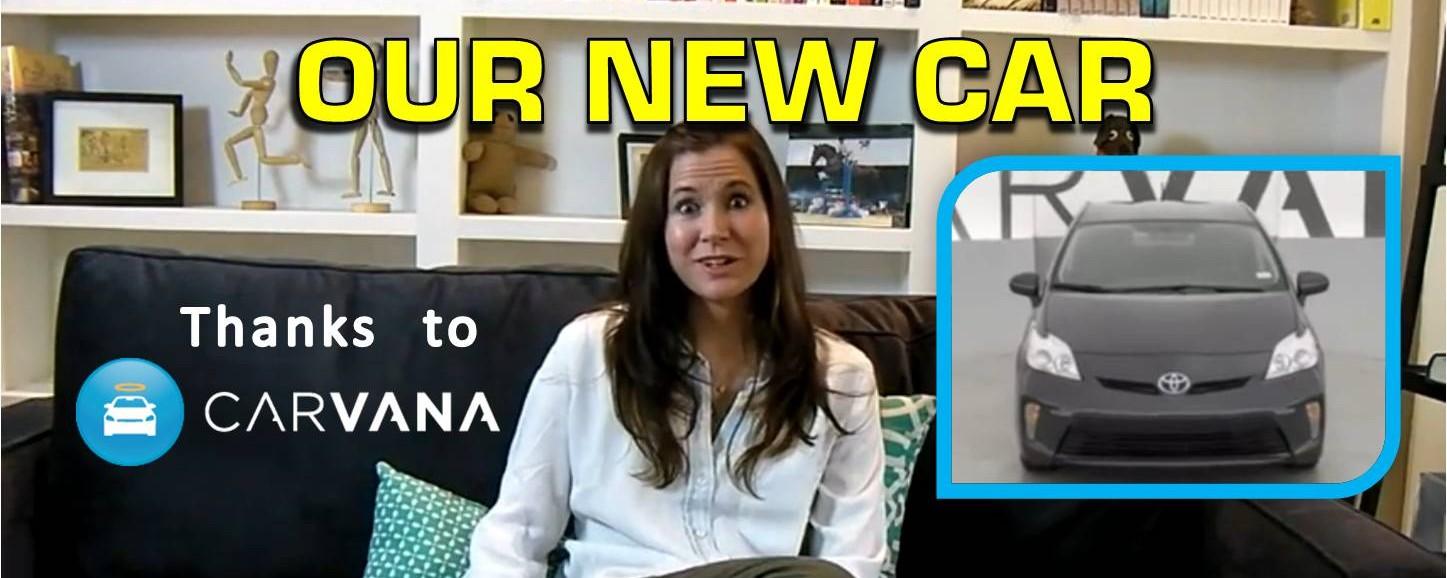 Our New Car: Toyota Prius   Thanks to CARVANA