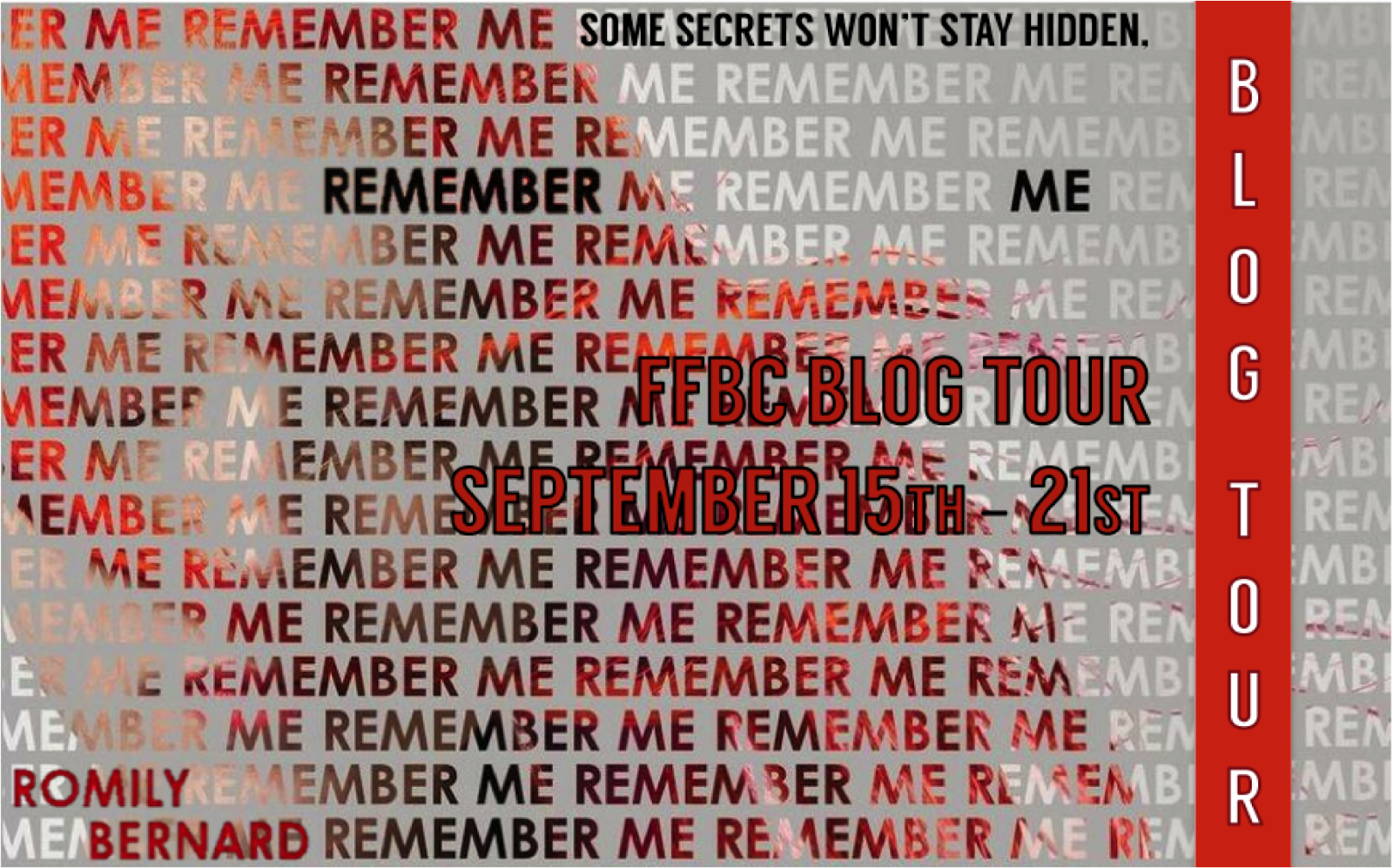 REMEMBER ME Blog Tour + GIVEAWAYS | Last Day!